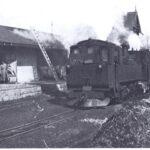 Станция Годутишки Свентянско-Березвечского подъездного пути. Здесь он соединялся с дорогой Лынтупы-Кобыльник-Свираны-Годутишки, 1916г.